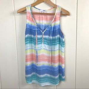 EUC Sonoma Sleeveless Blouse Tank Top Pastels Med